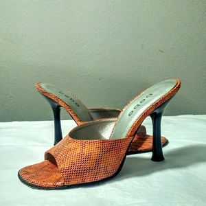 9bb3e272de2e bebe Shoes - Bebe Orange snakeskin sandals